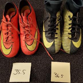 Fodbold støvler str 35,5 til 39. Indendørs & udendørs. 50 kr til 150 kr  Mængderabat gives.