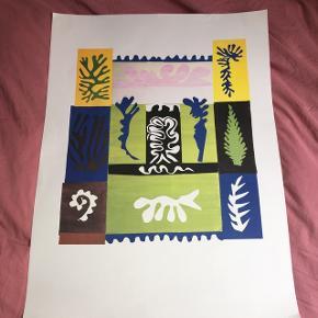 Henri Matisse Plakat i tyk papir  Standen er god  60x82