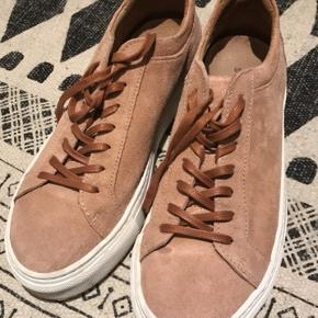 Selected Femme sneakers i ruskind.