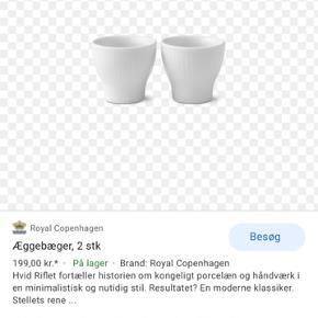 4xroyal Copenhagen æggebærger sælges. 60kr pr styk - Står som helt nye og uden skader
