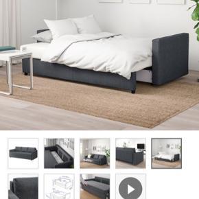 Sælger min 3 personers sovesofa fra IKEA da jeg skal flytte og ikke har plads til den.  Købt i juni 2019 og derfor ikke brugt særlig længe.   NYPRIS 3000 kr   (Man skal selv hente og fragte den ud)