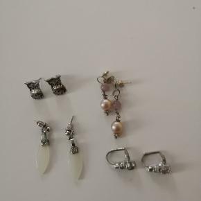4 par øreringe sælges samlet for 200 kr afhentet ellers plus porto! :)