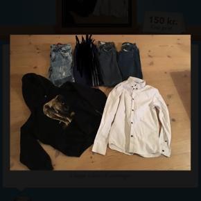 3 par cowboybukser, 1 skjorte og 1 hættetrøje