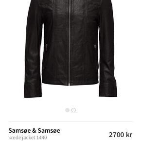 Flot og stilfuld Samsøe læderjakke, der som ny står i 2700 DKK, men nu 400.
