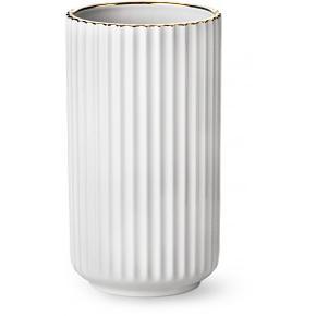 Lyngby klassisk vase med guldkant - 20 cm Original emballage Helt ny - aldrig brugt