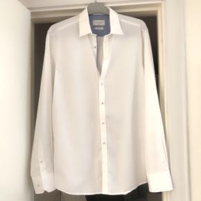 Bruun & Stengade hvid skjorte slim fit str 40