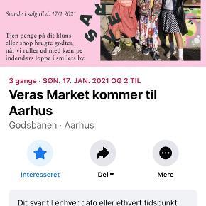 Jeg sælger min stand til Veras Market i Århus videre. Der er hverken tilkøbt tøjstativ eller bord, men dette kan sagtens købes ved siden af