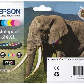 Har en hel ny pakke med 6 farver + en pakke, hvor der er 1 stk. Magenta 1 stk. light cyan, 1 stk. cyan og 1 stk. light magenta  printer Farve: - Oprindelig købspris: 700 kr.
