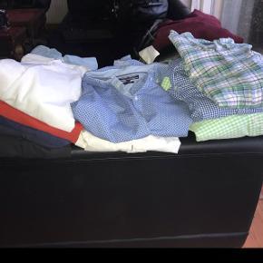 3 Ralph Lauren skjorter - XL slimfit1 Tommy Hilfiger skjorte - XL 1 Philosophy Blues Orignal - XL 2 Tommy Hilfiger polo - XXXL 2 Ralph Lauren polo - XL 1 striktrøje - XL   Skjorterne er kun brugt få gange.   DET SÆLGES SAMLET  Byd gerne 🙂