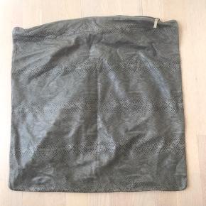 Ægte læder pudebetræk Mål: 47x47