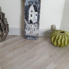 Maleri lavet på gammelt træ , sælges 625 kr