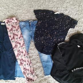 Molo overgangsjakke Milk Cph kjole Levis jeans ( har et par meget små pletter nederst på det ene ben) Sofie Schnoor bukser Soft Gallery t-shirt Sofie Schnoor Dance Hoodie