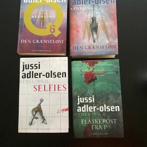 4 bøger af Jussi Adler Olsen  Pr stk 50 kr pp