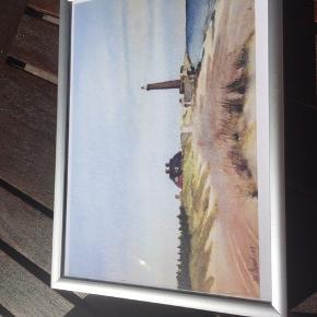 Skagens billede i ramme Måler 19x14 cm  Befinder sig i 9300 Voerså og kan sendes på købers regning