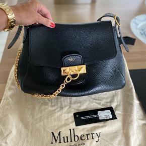 Ny smuk Mulberry Keeley Heavy Grain Black...  H: 18 cm B: 28 cm D: 12 cm Rem: 21 - 35 cm  Bytter ikke...