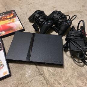 PlayStation 2 med en masse spil