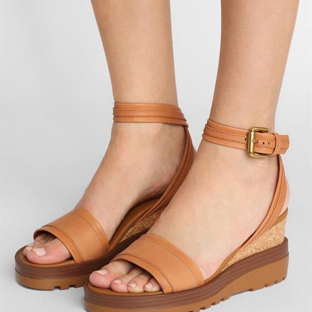 2018 Sandals Black Leather Sandals Women's Wedge Clarks