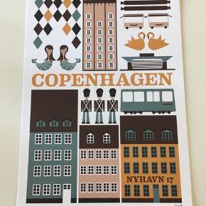 Ferm Living plakat, Copenhagen.  Helt ny ubrugt, måler: 29.7x42 cm.  Uden ramme.  Sælger 6 stk.  Oprindelig 200 kr. pr. stk.  60 kr pr stk.