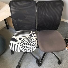Sælger mine kontorstole pga. omrokering.   DEN MED HVIDT SÆDE ER SOLGT