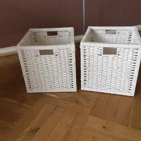 2 stk opbevarings kasser Np 99,- stk Spar turen til Ikea  2 stk 99