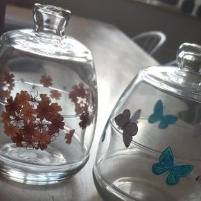 2 søde glas bonbonniere sælges samlet afhentes på amager