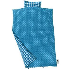 Junior sengetøj blue graphic