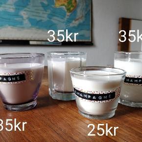 Hjemmelavede håndlavede sojalys soyalys. Mange forskellige priser, farver og dufte - flere end i denne annonce :)