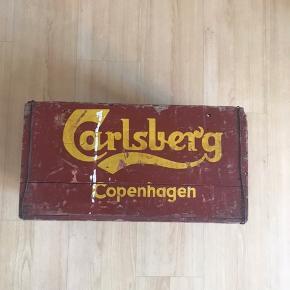 vintage Carlsberg øl-kasse. Byd!