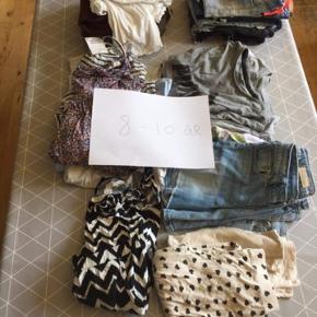 Pæn og velholdt pigetøj str 8-10år,Mærker som Zara,hm+mere,bukser,kjoler+ meget andet.BYD