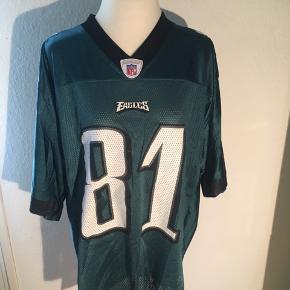 Mørkegrøn NFL trøje - Philadelphia eagles nr. 81 Terrell Owens. Størrelse medium