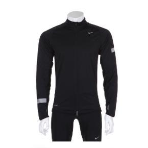 Flot løbejakke i kvalitet sælges, modellen hedder, 'The Nike Element Jacket: Breathable weather protection'.