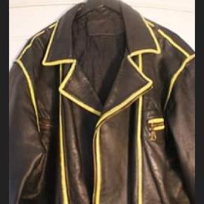 Læder vintage jakke.
