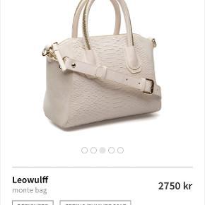 Ny leowulff taske der kun er brugt et par timer. Der er dog kommet nogle brugsspor i siderne. Helt røgfri. Nypris 2700 kr. Sendes med DAO.