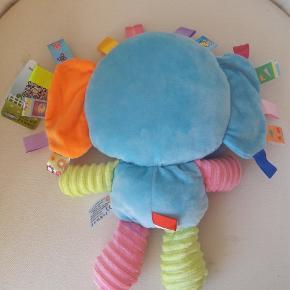 Føle elefant, ca 30 cm lang/høj