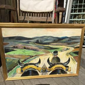 Maleri bredde 79 cm. Højde 54 cm.