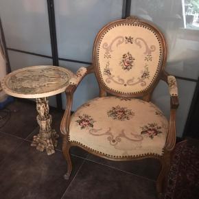 bord lavet af marmor + rokoko stol fin stand giv BYD
