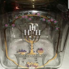 Holmegaard glas krukke til f.eks. kager, slik eller meget andet.