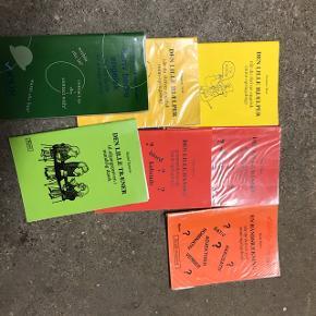 Forskellige bøger til grammatik øvning og hjælp i dansk, tysk og engelsk