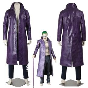 """Joker kostume / fastelavn / halloween udklædning outfit - lille """"slangeskind"""" jakke.   Str. M (passer en M/L) til mand. Ny stand."""