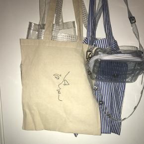 Vildt fed Tote bag/mule pose/taske 80inkl fragt fås også i rød🍒blå🌊gul🍋hvid🐚sort🌑grå🌪grøn🥑brun🥥(FÅS OGSÅ SOM SORT TOTE BAG)