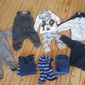 Indeholder: 2 x skjorter 1 x natdragt 1 x trøjer 6 x bukser 3 x bodies/T-shirts 1 x uldhue