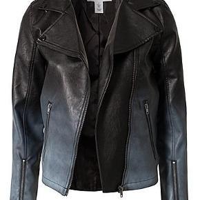 Issue 1.3 ombre faux leather jacket. Næsten ikke brugt.
