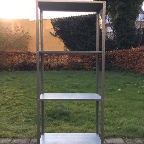 Reol, indendørs/udendørs forzinket, 60x27x140 cm