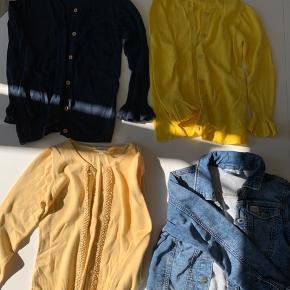 Alle cardigans + jakke sælges sammen til 130 kr