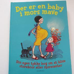 Der er en baby i mors mave. Dejlig bog med forskellige små historier. Der er lidt ridser på coveret, men indeni er den næsten som ny.