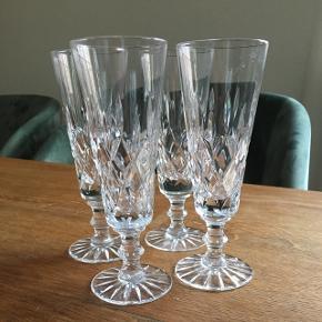 Krystal champagne glas  Højde 16 cm