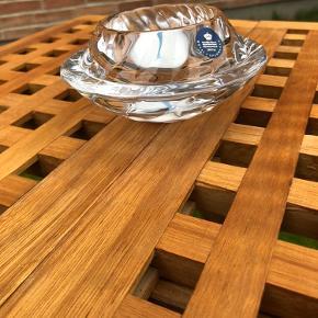Lysestage fra royal Copenhagen i krystal. Rigtig fin.  Køber betaler fragt