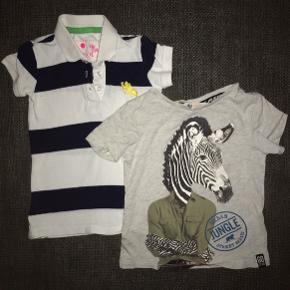 92 ny polo marineblå hvid stribet grå zebra T-shirt bluse trøje tøjpakke tøjpakker