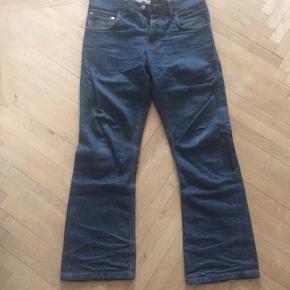 Eat dust, cash denim, bootcut , selvage jeans 31 i liv klippet af og syet op til 31 længde