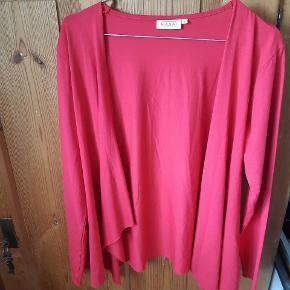 Så god som ny - rød/pink cardigan i str. L.
